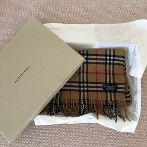 Burberry lambswool plaid scarf